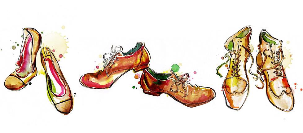 anemonekloos_schuhe_aquarell_illustration